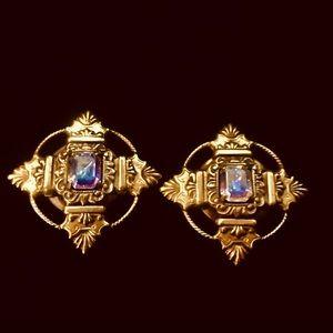 Kirks Folly vintage clip earrings